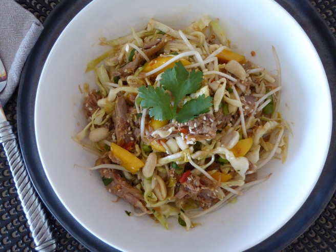 Pulled pork and mango salad