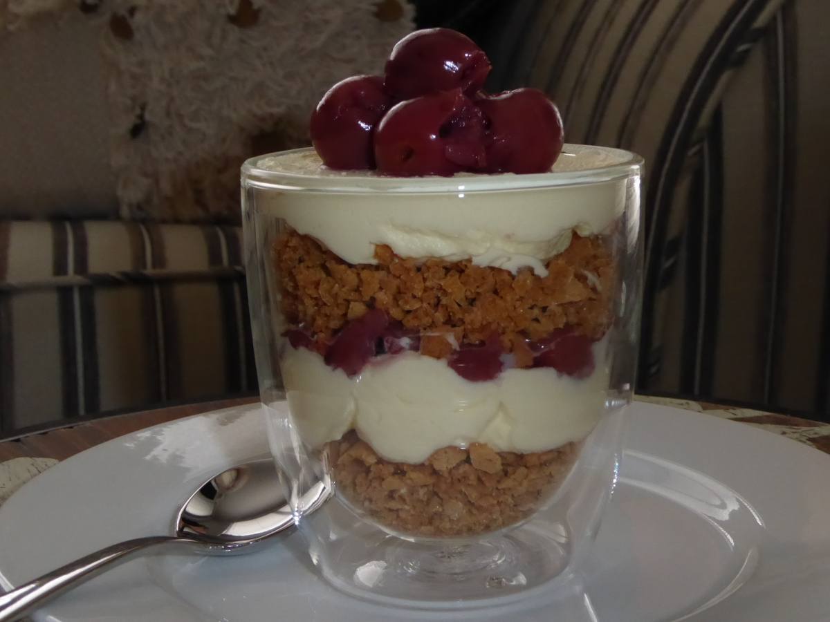 Mascarpone Cream with Morello Cherries and Amaretti